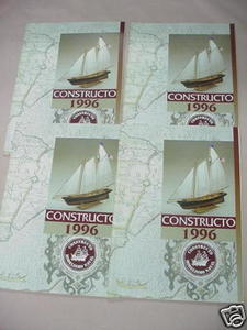 Four 1996 Constructo Toyland Wooden Ship Model Catalogs