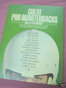 Great Pro Quarterbacks 1972 HC Editor Lud Duroska