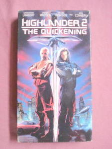 Highlander 2 The Quickening Sean Connery VHS