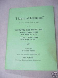I Learn At Lexington 1946 Lexington Auto School NYC