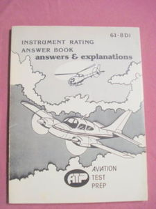 Instrument Rating Answer Book Aviation Test Prep 1978