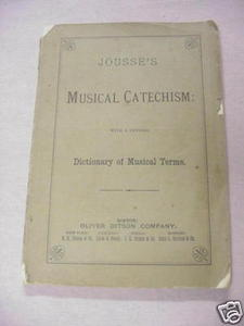 Jousse's Musical Catechism softcover booklet c.1874