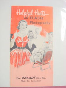 Kalart Co., Plainville Ct., Flash Photography Book