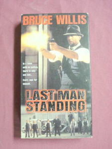 Last Man Standing VHS Bruce Willis Christopher Walken