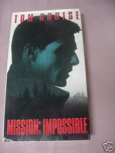Mission Impossible VHS Tom Cruise Jon Voigt