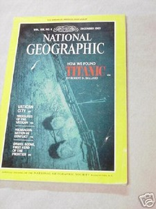 National Geographic Dec., 1985 Titanic, Daniel Boone
