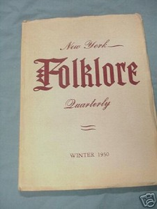 New York Folklore Quarterly Winter 1950