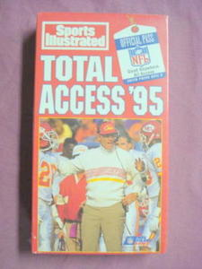 NFL Total Access '95 VHS-Training Camp to Post-Season