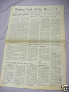 November 30, 1967 Connecticut Daily Campus Newspaper UCONN