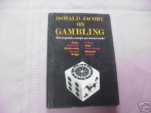 Oswald Jacoby on Gambling 1963 1st Edition HC Poker