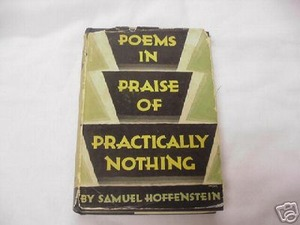 Poems In Praise of Practically Nothing 1931 Hoffenstein