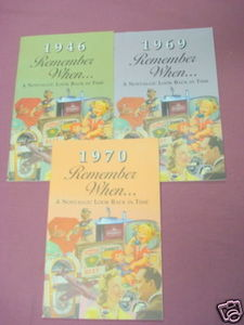 Remember When 1946, 1969, 1970 Look Back Booklets