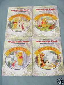 Set of Four Winnie the Pooh and His Friends Books 1994