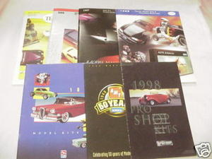 Seven 1990's Model Catalogs Ertl and Testors