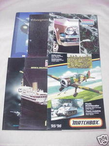 Six 1990's Model Catalogs Monogram, Airfix, Minicraft