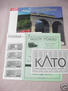 Six 1990's Model Railroad Catalogs Atlas, Kato