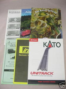 Six 1990s Model Railroad Catalogs Atlas, Circuitron
