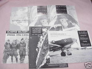 Six Schiffer Military Books Catalog 1996-1999
