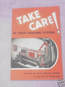 Take Care of Your Cooling System 1942 Car Care booklet