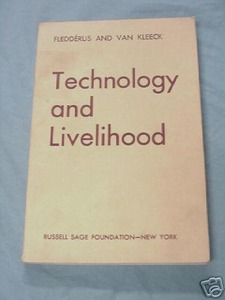 Technology and Livelihood 1944 Fledderus and Van Kleeck