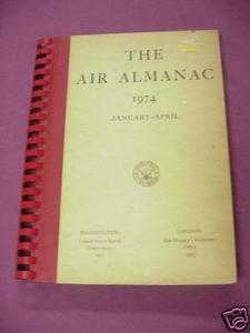 The Air Almanac 1974 January-April U.S. Navy