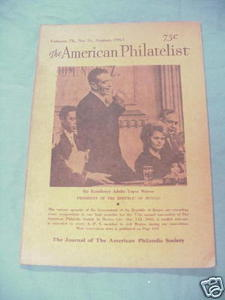 The American Philatelist August, 1963, Vol. 76 No. 11