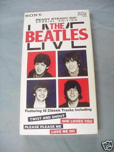 The Beatles Live VHS Featuring 12 Songs