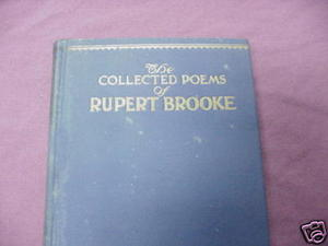 The Collected Poems of Rupert Brooke 1929 HC