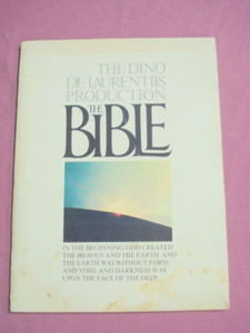 The Dino De Laurentiis The Bible Souvenir Book 1966