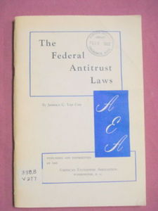 The Federal Antitrust Laws 1962 Softcover Booklet