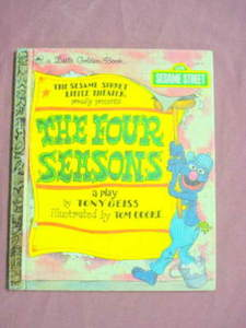 The Four Seasons Sesame Street Little Golden Book 1991