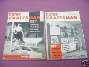 The Home Craftsman Magazine Oct 1958 and June, 1959