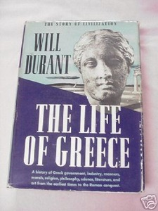 The Life of Greece 1939 Will Durant HC