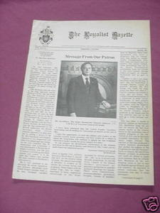 The Loyalist Gazette Vol. XIX, No. 1, Spring, 1981