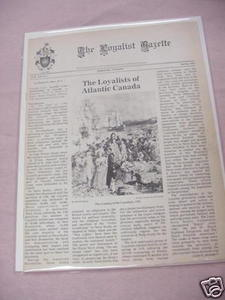 The Loyalist Gazette Vol. XX, No. 1, Spring, 1982