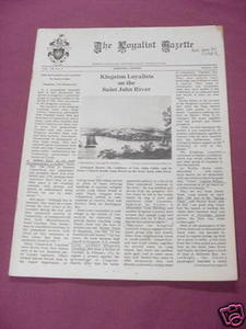 The Loyalist Gazette Vol. XX, No. 2, Autumn, 1982