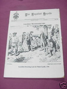 The Loyalist Gazette Vol. XXII, No. 1, June, 1984