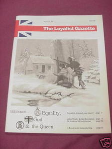 The Loyalist Gazette Vol. XXVI, No. 1, Fall, 1988