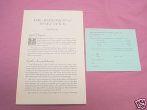 The Metropolitan Opera Guild 1938-39 Brochure + Card
