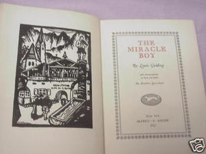 The Miracle Boy 1927 HC Louis Golding