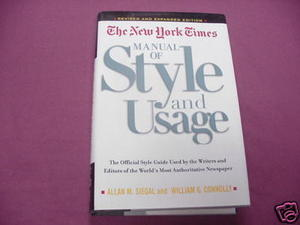 The New York Times Manual of Style and Usage HC Siegal