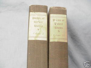 The Poetical Works of Robert Burns 2 Vols Circa 1900
