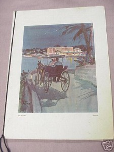 The Princess Bermuda 1960's Dinner Menu Vern Tremewen