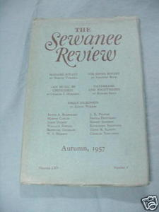 The Sewanee Review Autumn, 1957, Volume LXV, Number 4