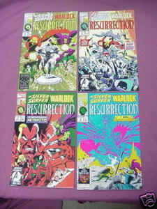 The Silver Surfer Warlock Resurrection Mini-Series #1-4