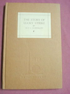 The Story of Lucky Strike World's Fair Edition 1938 HC