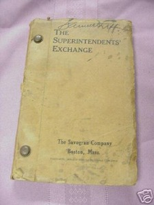 The Superintendents' Exchange 1929 Savogran Co., Boston