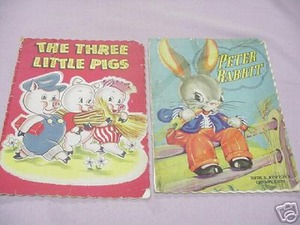 The Three Little Pigs & Peter Rabbit 1940s/50s Whitman