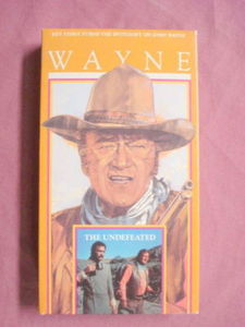 The Undefeated VHS John Wayne Rock Hudson