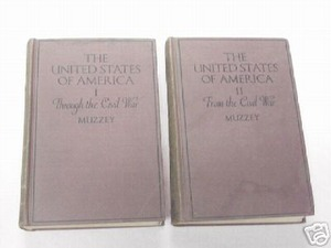 The United States of America 2 Vols. 1922 David Muzzey